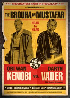 Star Wars Fight Posters by Neil Robinson, via Behance