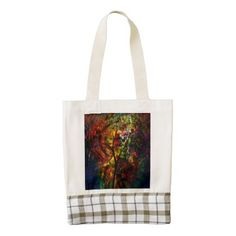 Abstract Autumn Zazzle HEART Tote Bag - autumn gifts templates diy customize
