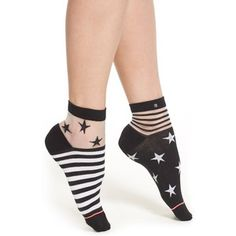 Stance 'Gothic Star' Illusion Ankle Socks