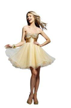 Clarisse Short Baby Doll Prom or Homecoming Dress | http://www.amazon.com/gp/product/B00AFXXG4Y/ref=as_li_qf_br_asin_il_tl?ie=UTF8&camp=1789&creative=9325&creativeASIN=B00AFXXG4Y&linkCode=as2&tag=f02748-20