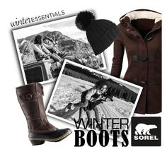 """""""Introducing the 2015 Winter Collection from SOREL: Contest Entry"""" by danielle-broekhuizen ❤ liked on Polyvore featuring SOREL"""