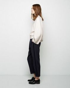 I think this top is a good example of minimalistic yet modern through the interesting sleeve shape