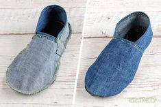 Diy Jeans, Recycle Jeans, Upcycle, Recycled Denim, New Wardrobe, Sewing Clothes, Espadrilles, Recycling, Slippers