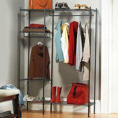 Adjustable Garment Rack with Adjustable Shelves