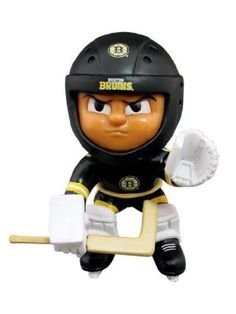"""Boston Bruins Lil' Teammates Goalie Figurine by Boston. $15.95. The hot new collectible toy craze - 2 3/4"""" tall vinyl team figures - Available in various positions, uniforms and leagues - Check out www.lilteammates.com for more details! Now with Posable Action!"""