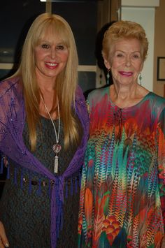 The stunning Louise Hay and Doreen Virtue at I Can Do It Pasadena.