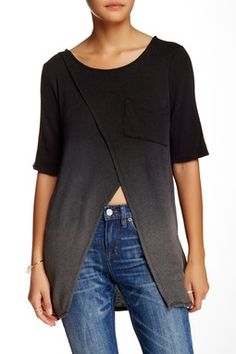 Envelope Front Knit Tee