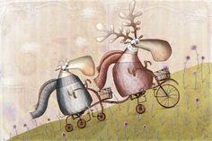 by AnnaLaura Cantone Anna, Sculpture Painting, Bike Art, Installation Art, Illustration Art, Art Illustrations, Whimsical, Sculptures, Bicycle