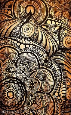 Sunday Afternoon Mandala by White Violet Art, via Flickr