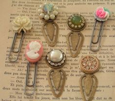 Bejeweled paperclip bookmarks by Andrea Singarella