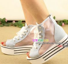 Free Direct Selling Lace-up Medium(b,m) Shipping New 2014 Women Shoes Platform Breathable Mesh Elevated Fish Head Sandals, Flats $29.90