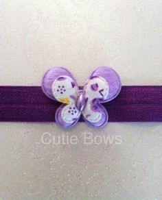 This Evie headband is made using purple soft elastic which is suitable for newborns and upwards. They come in various sizes so just select the appropriate age range. This headband comes with a lilac dual layered butterfly. Delivery will be up to 5 working days as all headbands are made to order. Postage is charged at a flat rate of £1.50 to UK addresses so you can order as many as you want!