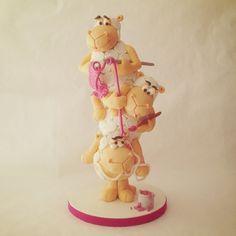"""Puckycakes: Funny Tower Cake - Divertida Tarta apilada- """"Ovejitas Traviesas"""""""