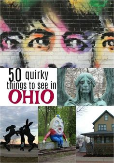 Do you love roadside attractions? Here are 50 fun and quirky things to see in Ohio to keep your next road trip through the Buckeye State interesting. Day Trips In Ohio, Weekend Trips, Weekend Getaways, Vacation Trips, Vacation Ideas, Family Vacations, Vacation Spots, Weekend Vacations, Family Trips