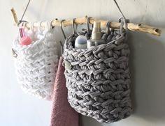 Ideen zum Stricken & Häkeln mit Textilgarn - Dekorationen aus Textilo Stripes und NewLines