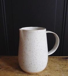Speckled White Ceramic Pitcher