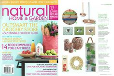 Natural Home & Garden - Upcycled Offerings, July 2012, Huntington Spree Reclaimed Wood Wall Clock