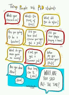 Things not to ask phd students or recent postdocs...
