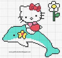 hello kitty gráficos ponto cruz.