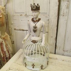 Handmade Santos cage doll with salvaged by AnitaSperoDesign