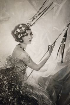 Cecil Beaton's sister, Nancy as a shooting star