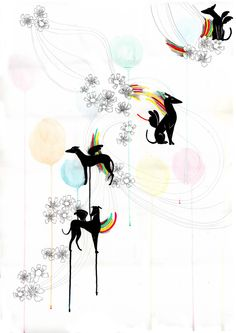 raul vazquez - Winged galgos - ilustracion