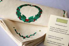 Christmas napkins Christmas runner christmas by MsHomeS on Etsy