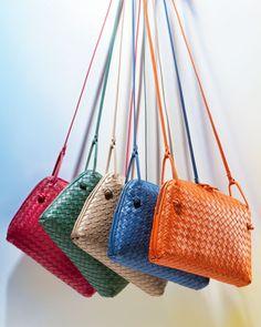 Bottega Veneta Veneta Small Crossbody Bag, Blue - Neiman Marcus