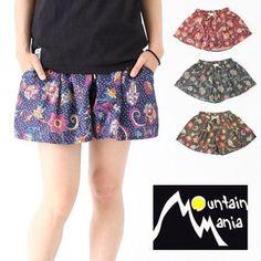 Mountain Mania マウンテンマニア PAISLEY CULOTTE PANTS ペイズリーキュロットパンツ/レディース アウトドア 野外フェス ファッション 登山 山ガール