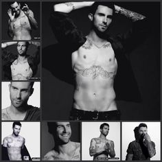 Adam Levine b photos. I do think he's sexy.. but I hate that bird tattoo  on his chess. :(