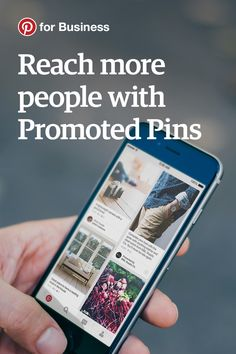 Grow your audience and drive traffic to your website with Promoted Pins. You can decide who to target your ads to, track conversions and best of all, you only pay when people click through to your site.