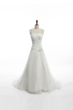 Chic straps A-line sweep/brush train bridal gowns... I like elements of this, but I don't *love* it.