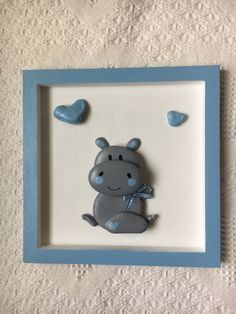 Baby boy hippo wall hanging, baby hippo pebble art for nursery, baby hippo for baby room, baby shower gift, pediatrician office decor – crafts gifts Stone Crafts, Rock Crafts, Wooden Shadow Box, Baby Hippo, Acrylic Craft Paint, Pebble Art, Stone Art, Rock Art, Rock Rock