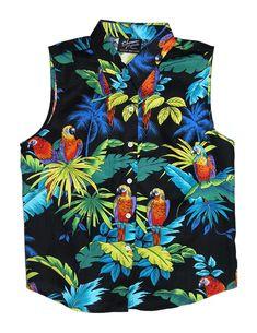e4967385c3f6 Ladies Sleeveless Tank Blouse Parrots Paradise  RJ-W417S-98