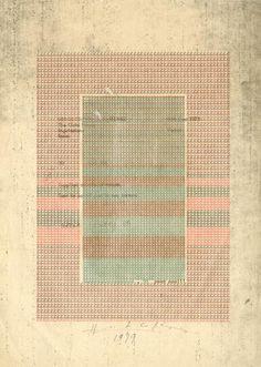 CHOPIN (Henri). - Dactylo-poème original tiré en rouge et vert signé et daté Poor Man