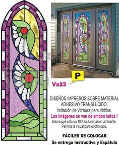 Vitraux Vitro Vinilo Decorativo Transluc Renová Tus Vidrios - $ 475,00 en MercadoLibre