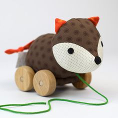 Franck and Fischer Ejner Fox pull along toy - £32.99 - Toyella