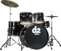 ddrum D2 5-piece Drum Set w/Hardware, sticks, bag