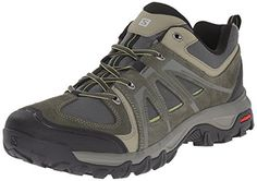 Salomon Mens Evasion Aero Hiking Shoe Night ForestNight ForestTurf Green 85 D US -- You can get additional details at the image link.