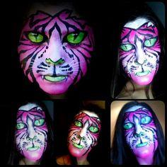 MakeUp Pink Tiger #MakeUpByMeliMorales #HalloweenMakeUp #Halloween #MakeUp #NeonMakeUp #Neon