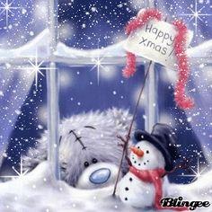 tatty teddy xmas ♥ღ Tatty Teddy, Christmas Teddy Bear, Christmas Snowman, Winter Christmas, Pink Christmas, Illustration Noel, Christmas Illustration, Illustrations, Christmas Wishes