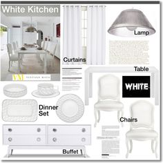 """White Kitchen"" by helenevlacho on Polyvore"