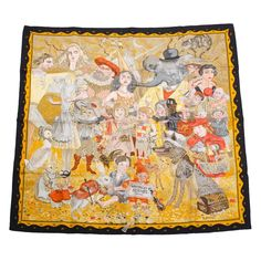 """Hermes """"Fairytales by Hermes"""" Silk Twill Scarf 90cm  