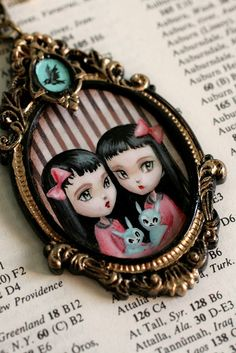 The Bunny Twins - original cameo by Mab Graves by mab graves, via Flickr
