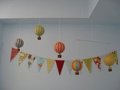Wonder if I could make a hot air balloon mobile?