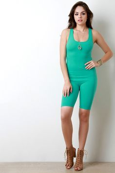 Description This casual romper features a jersey knit fabrication 6e545f467