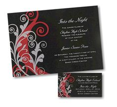 Into The Night Prom Invitation - Click through for low volume pricing and more options.