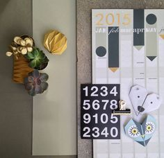 Gold Foil 2015 Year Planner