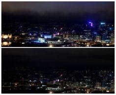 Oslo under Earth Hour 2011