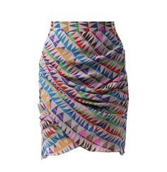 Mara Hoffman wrap skirt. Great pattern and color!